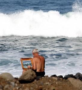 Maler ved havet