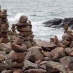 Sten på strand