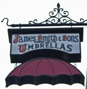 Sign for umbrellastore